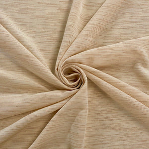 Cream Scattered Lines Polyester Fabric