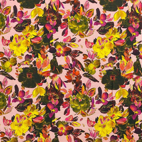 Autumn Floral Cotton Jersey Fabric