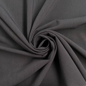 Dark Grey Poly-Viscose Suiting Fabric
