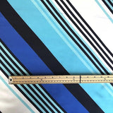 Diagonal Stripe Chiffon Fabric - Pound Fabrics