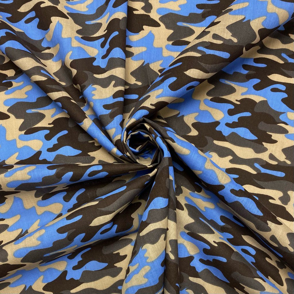 Camouflage Polycotton Fabric