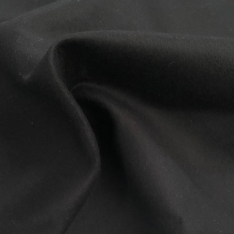Black Heavy Faux Suede Fabric