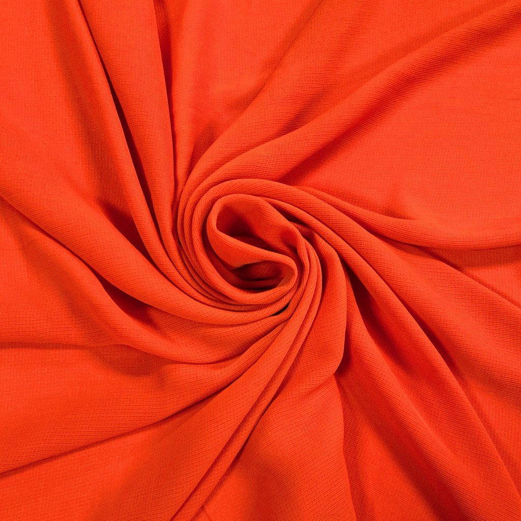Red/Orange Loose Weave Fabric