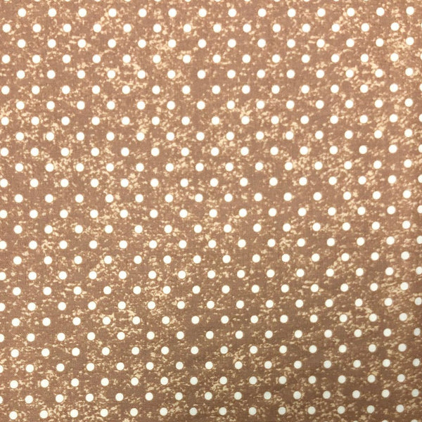Beige Polka Dot Cotton Fabric