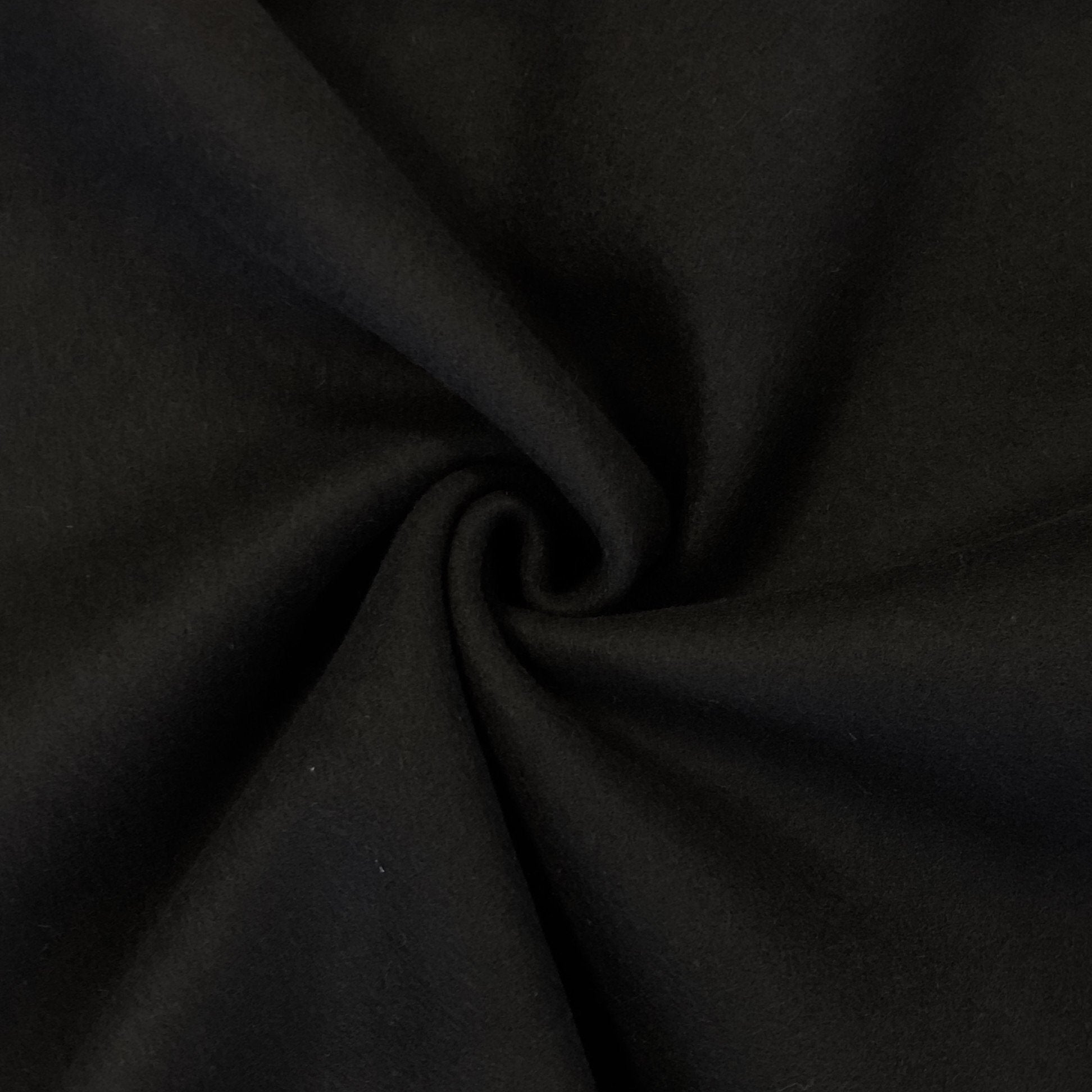 Black 100% Wool Fabric