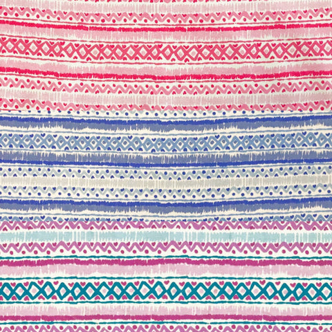 Zig Zag Pattern Design 100% Cotton Fabric - Pound Fabrics