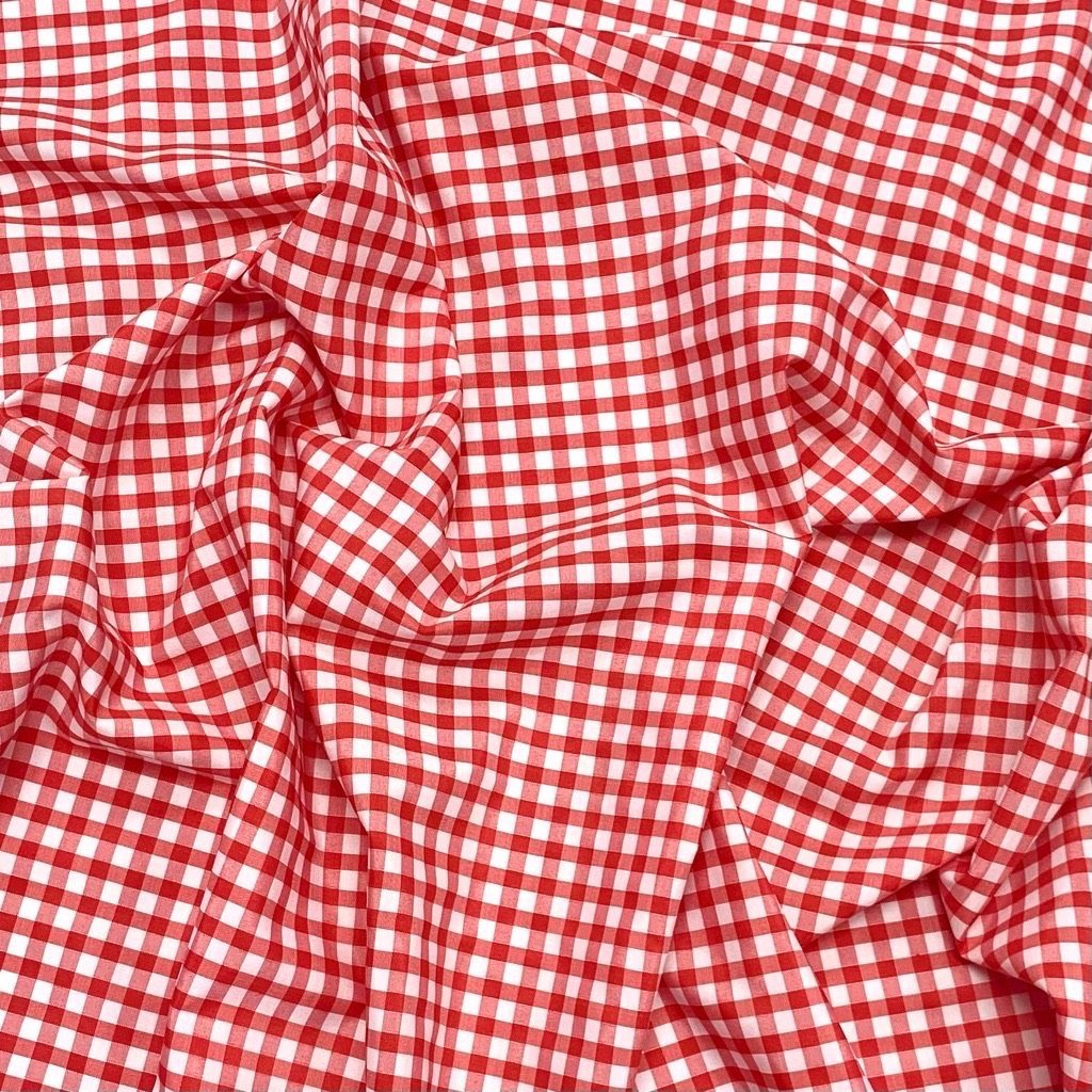 1/4 inch Gingham Polycotton Fabric