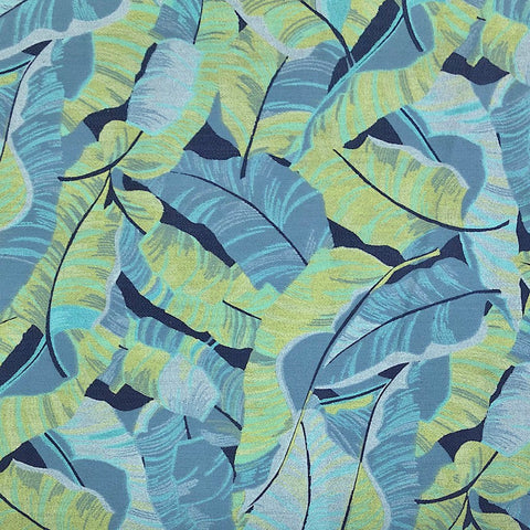 Leaves Printed Denim Fabric