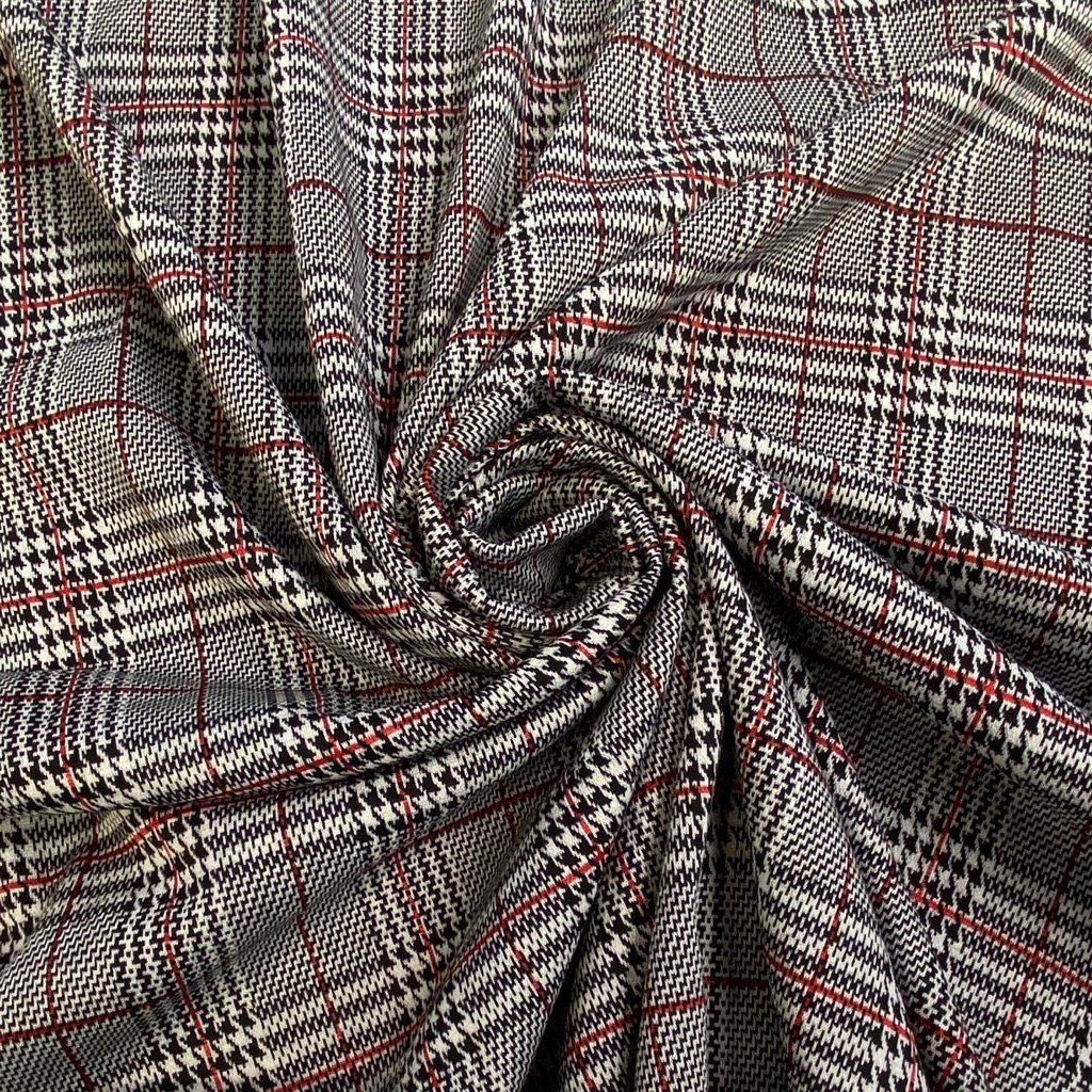 Luxury Checkered Knit Fabric