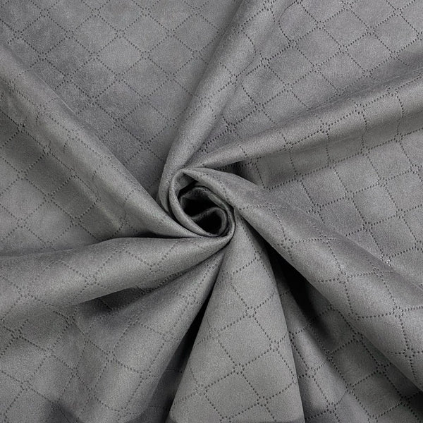 Diamond Embossed Suede Scuba Fabric