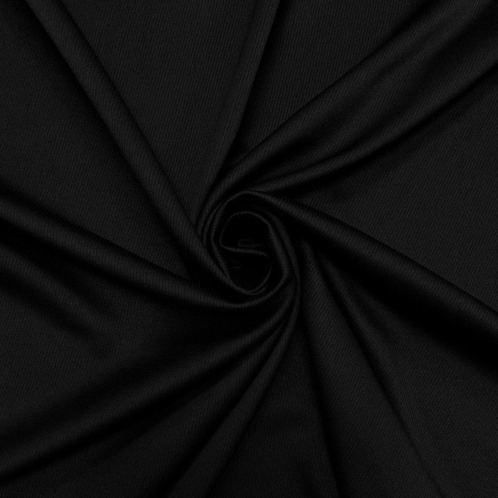 Black Lines Polyester Fabric