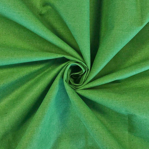 Green Cotton Mix Fabric