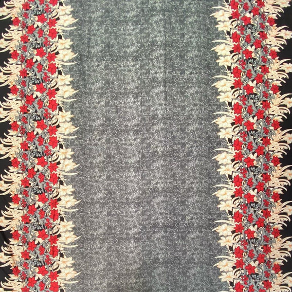 Grey Double Border Jersey Fabric - 2 metres