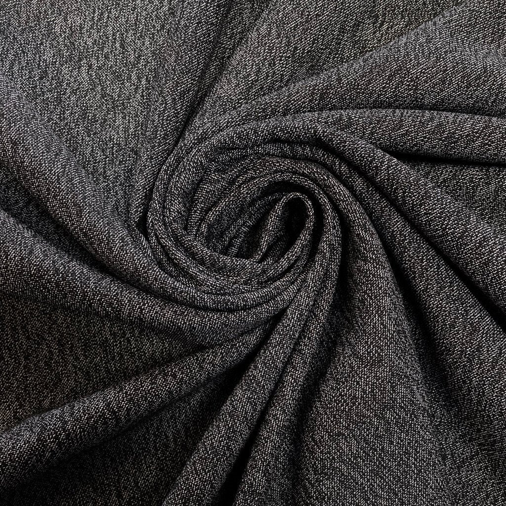 Black and White Woven Polyester Fabric