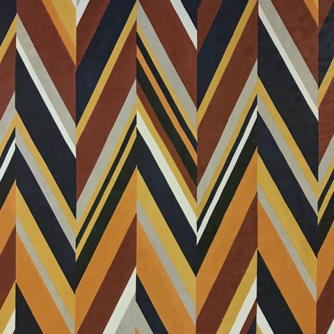 Abstract Zig Zag Chiffon Fabric - Pound Fabrics