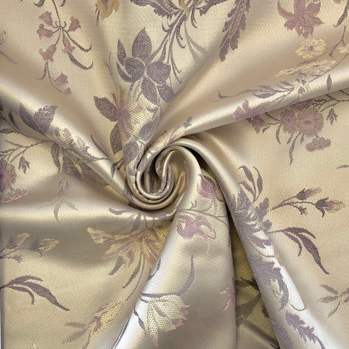 Lavender Silver Floral Fabric