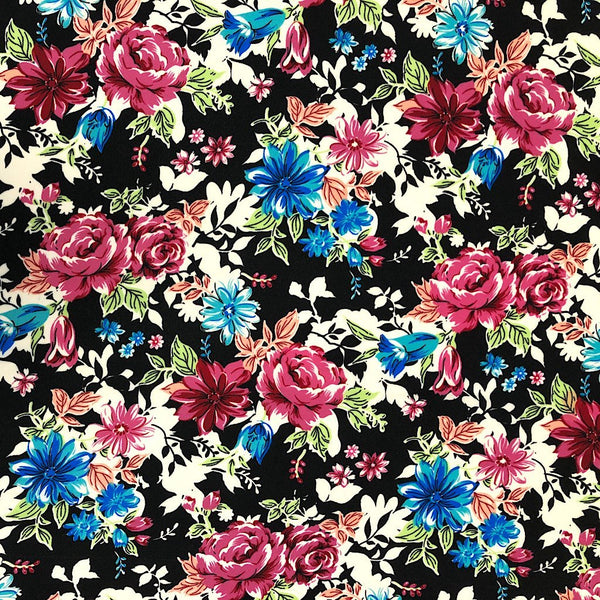 Garden Flower Polyester Fabric