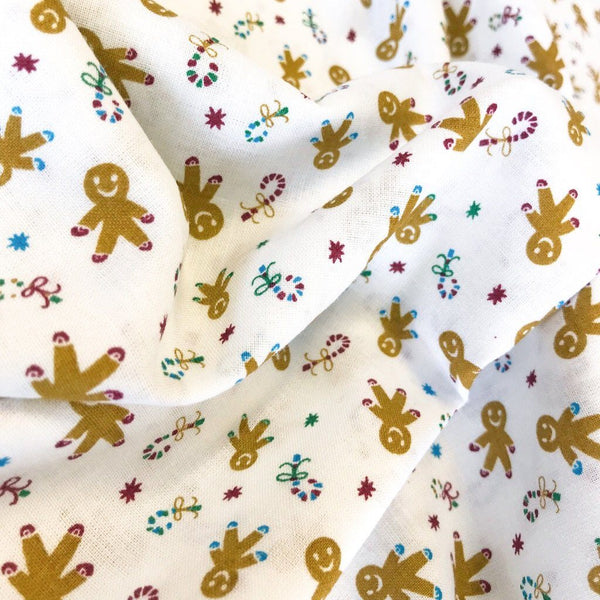 Gingerbread Men Cotton Fabric