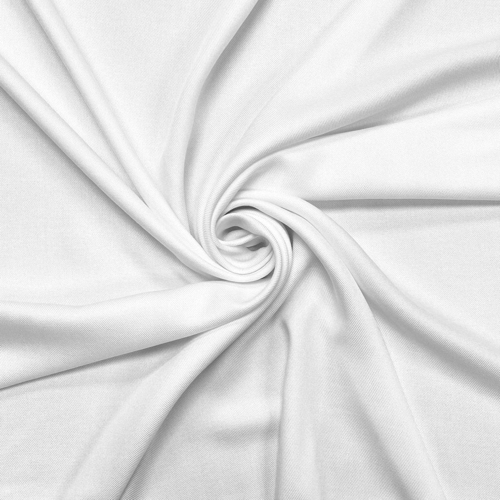 White Viscose Twill Fabric
