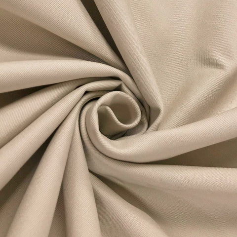 Beige Cotton Stretch Fabric