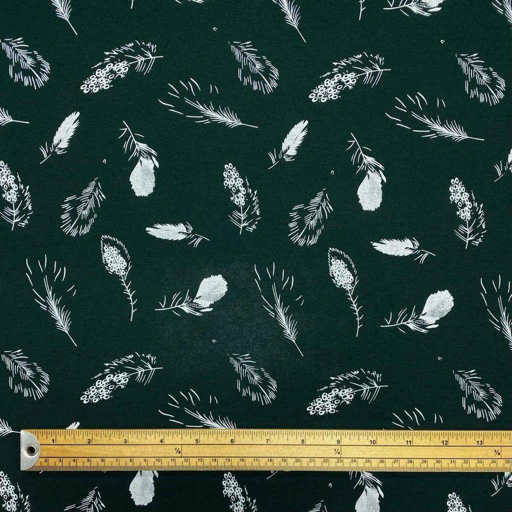 Feathers Oxford Polycotton Fabric