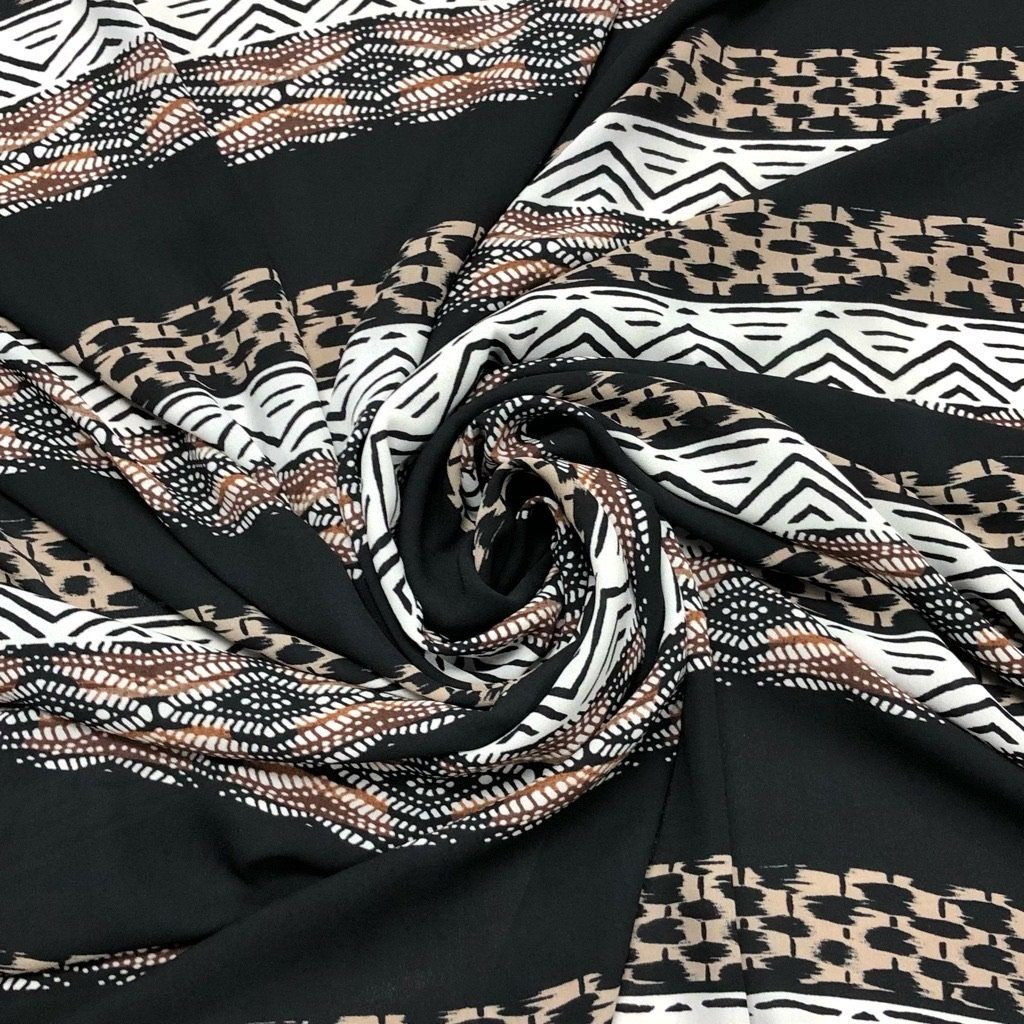 Aztec Design Georgette Fabric - 3 metres for £4.50