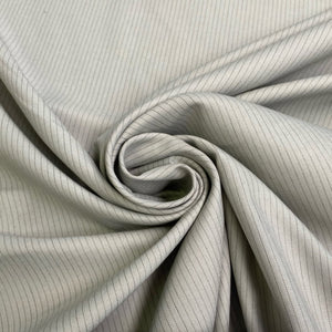 Grey Stripe Suiting Fabric