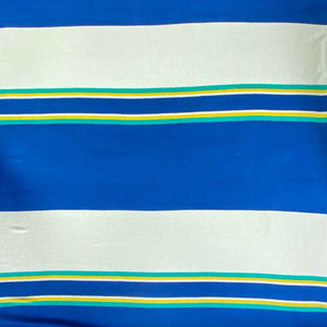 Blue Stripe Towelling Fabric