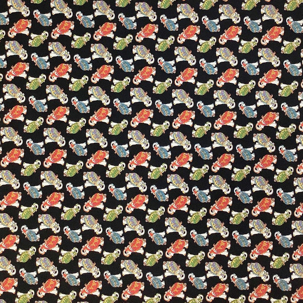 Indian Elephants Cotton Fabric