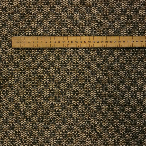 Textured Beige and Black Wool Blend Fabric - Pound Fabrics