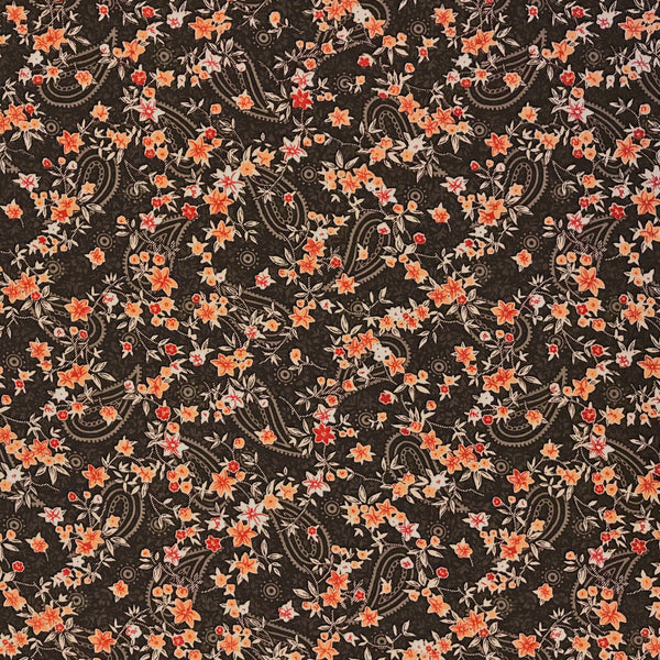 Flower Paisley Polyester Fabric