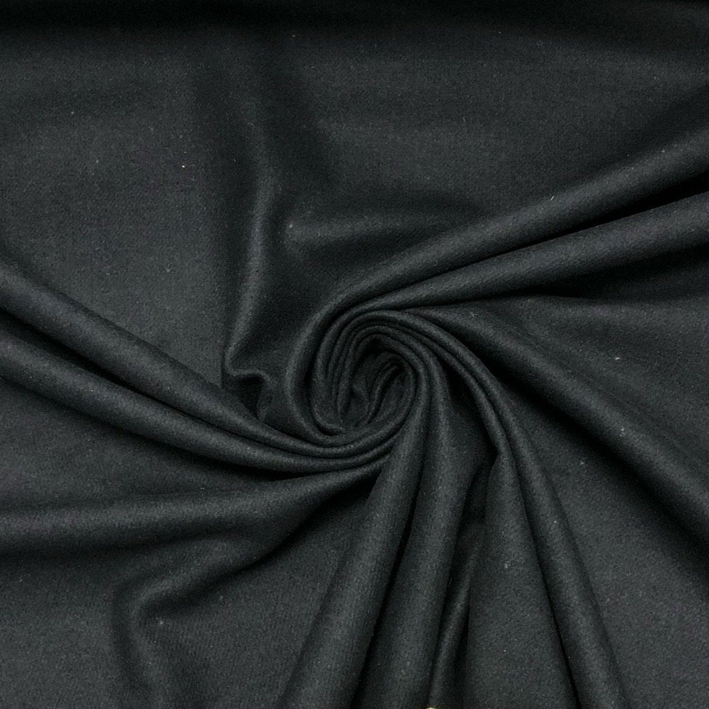 Black Wool Touch Fabric