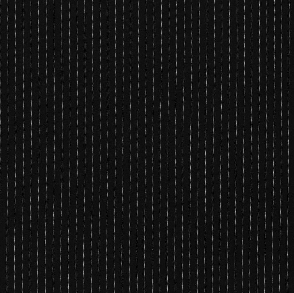 Black and White Stripe Polyester Fabric