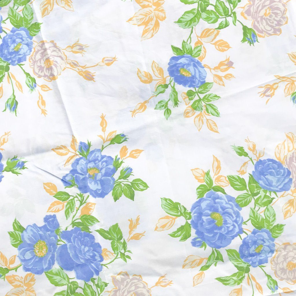 "Blue Blossoms 94"" Polycotton Fabric"