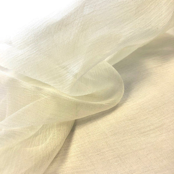Rayon Crinkle Fabric Cream Shades - 1.75m x 0.75m Piece