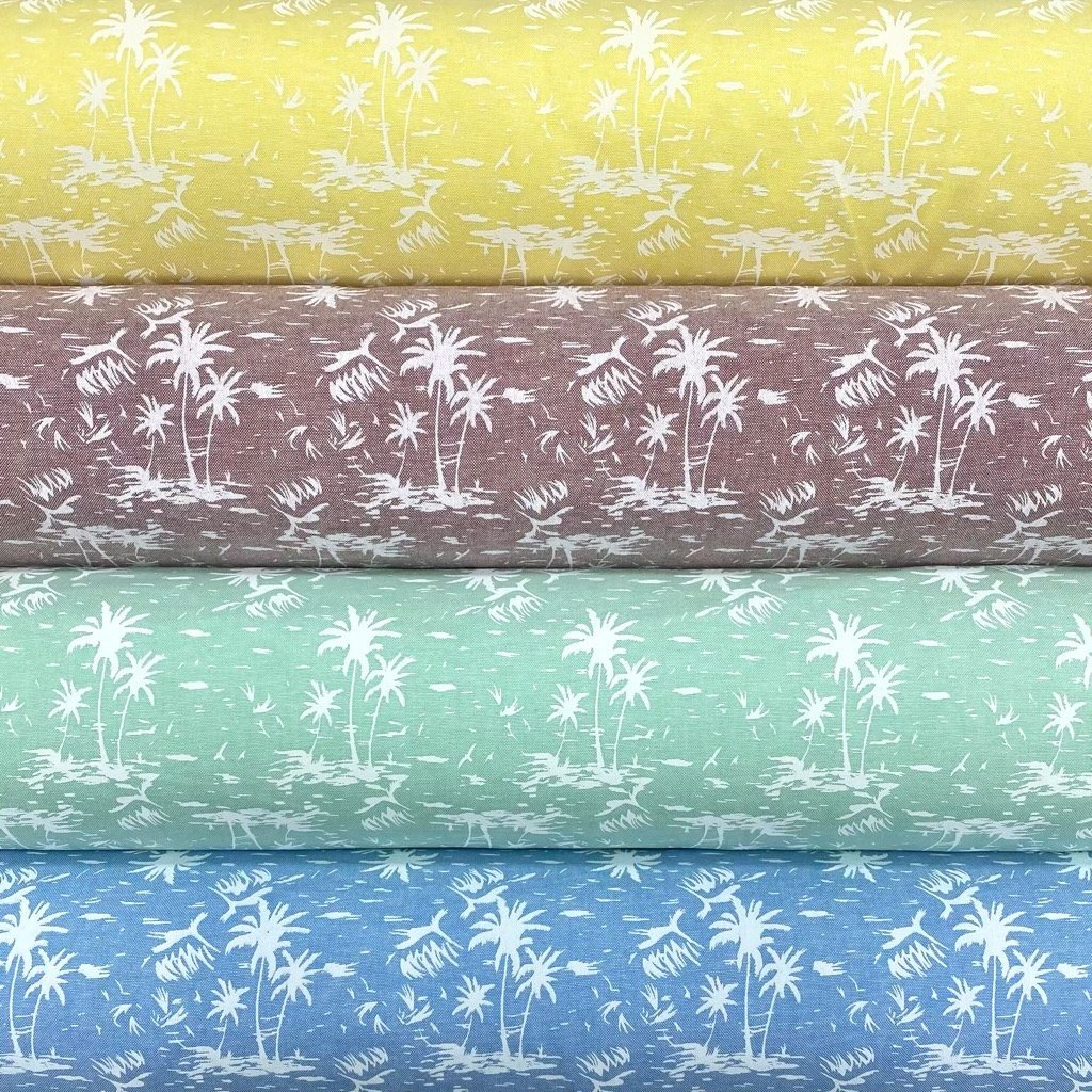 Palm Trees Oxford Polycotton Fabric