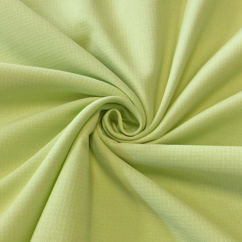 Pale Green Poly-Viscose Fabric