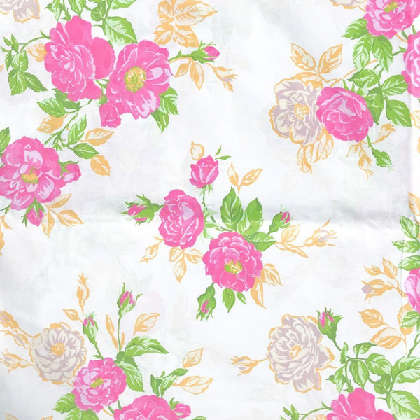 "Pink Blossoms 94"" Polycotton Fabric"