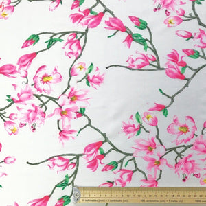 Flower Branch Crepe Fabric - Pound Fabrics