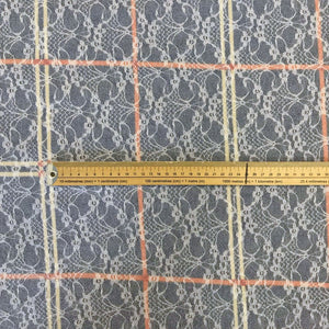 Grid Lace Stretch Fabric