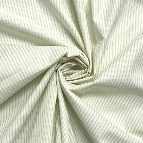 Ivory Shadow Stripe Cotton Fabric