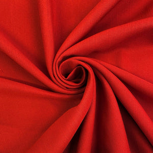 Red Linen Look Fabric