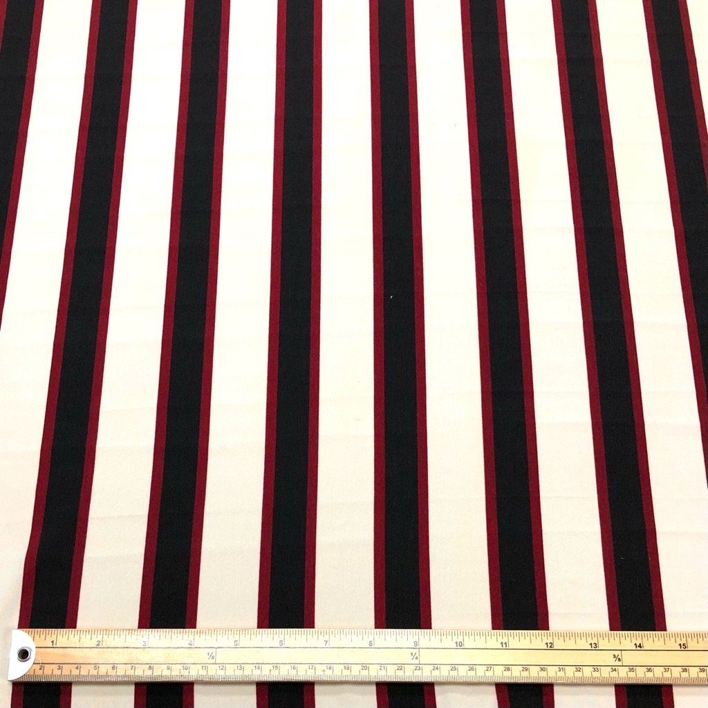 Three Coloured Striped Polyester Fabric - 3 metres for £4.50