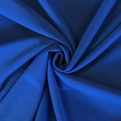 Blue Scuba Crepe Fabric