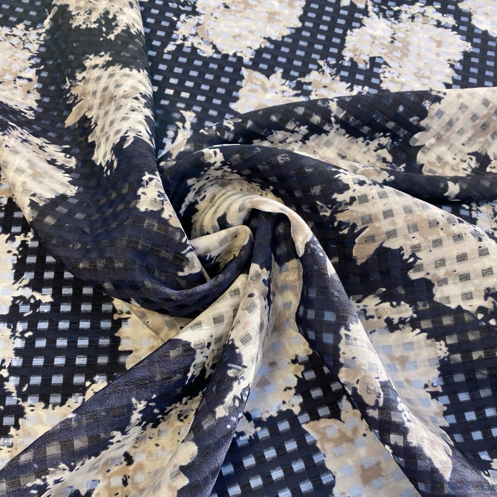 Island Sheer Checkered Polyester Fabric