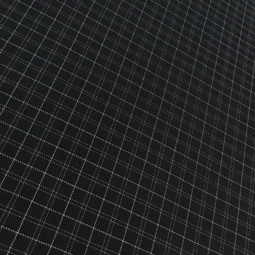 Midnight Blue Checkered Woven Fabric