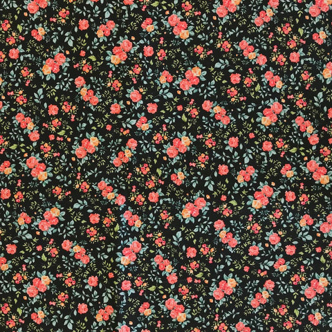Small All Over Roses Cotton Fabric