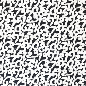 Numbers Cotton Fabric