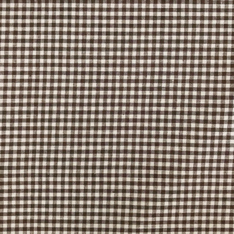 Brown Checkered Cotton Gingham Fabric