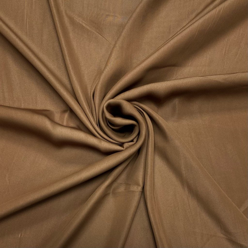 Budget Brown Sheen Polyester Fabric